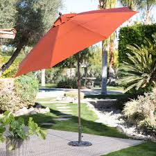 spun poly push on tilt wind resistant patio umbrella hayneedle