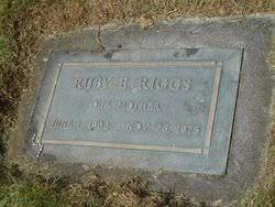 Ruby Elva Baize Riggs (1902-1975) - Find A Grave Memorial