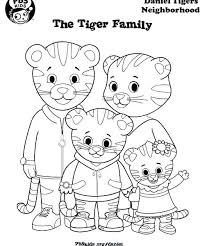 Daniel Tiger Coloring Pages Printable Tiger Coloring Pictures Color