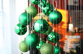 Unique DIY Wooden Christmas Tree With Knobs On  Pillar Box BlueChristmas Trees That Hang On The Wall