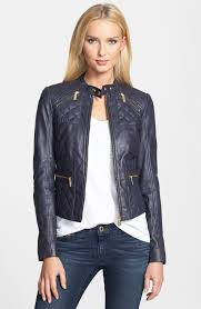 michael kors las leather jacket