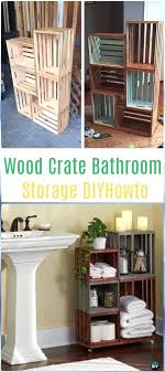wooden crate furniture. Wood Crate Furniture Bathroom Storage Instructions Ideas Projects . Wooden