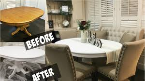 Diy Chalk Paint Dining Room Table Youtube