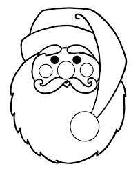Small Picture Gallery For Santa Beard Coloring Page Santa Face Coloring Pages