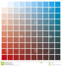 Color Chart Red Cyan Print Production Color Guide Ink