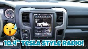 how to install a tesla style factory looking radio 10 4 w android ram 1500 14 17