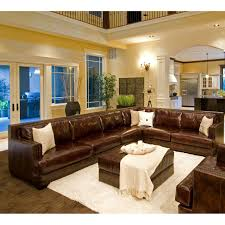 easton top grain leather sectional and ottoman in saddle color left arm sofa right arm loveseat com
