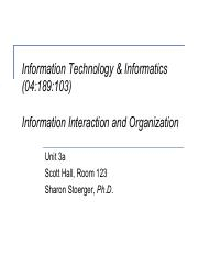 iti syllabus su information technology and informatics  63 pages lecture unit 3a information interaction and organization
