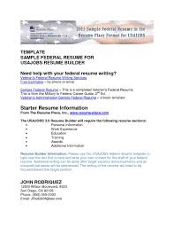 How To Write A Federal Resume Horsh Beirut