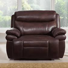 best leather recliner. Best High-End: Sanford Leather Power Recliner R
