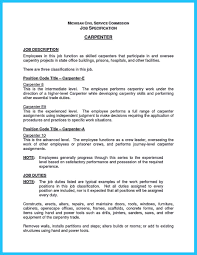 Carpenter Resume Examples Examples Of Resumes