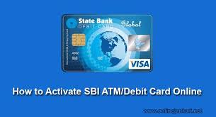 sbi atm debit card activate