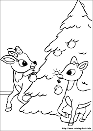 Small Picture Rudolph Reindeer Coloring Pages GetColoringPagescom