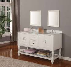 Furniture Amazing White Bathroom Vanity Ideas With White Double