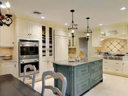 Kitchen Design Cozy White French Country Style Kitchen Islands