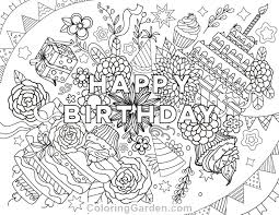 Birthday Coloring Pages For Adults Coloring Page Free Printable