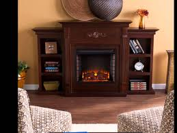sei tennyson electric fireplace with bookcases espresso ivory or mahogany you