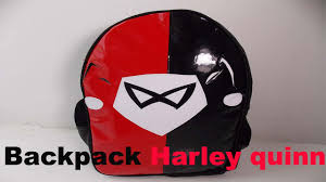 harley quinn mochila backpack youtube