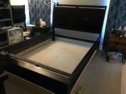 Sled Bed Frame Bed Frame Side Rails Queen Upholstered Curved ...
