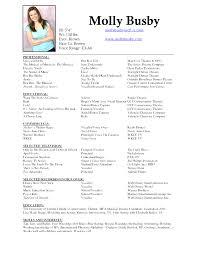 Musical Theater Resume Template Wonderful Modern Musical Theatre Resume Template Word Qualifications Resume