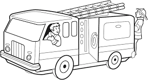 Small Picture Lifted Fire Truck Coloring Pages Coloring Coloring Pages