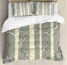 gray duvet cover set with pillow shams