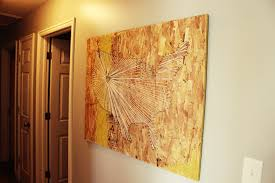 on diy map panel wall art with diy map string art with an industrial vibe