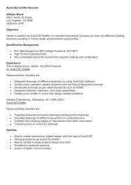 Autocad Drafter Resume Interesting Draftsman Cad Drafter Resume Civil Cover Letter Sample Drafting