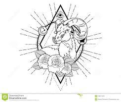 эскиз татуировки головы оленей с эскизом татуировки роз винтажным