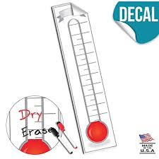 How To Make A Thermometer Goal Chart Thermometer Goal Chart Amazon Com