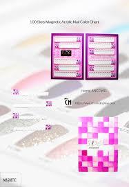 Nail Gel Color Chart 100 Slot Nail Tip Display With Magnet