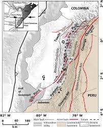 New Active Tectonic Map Of Ecuador