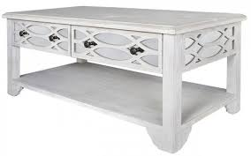 valeria washed ash and mirrored 2 drawer coffee table
