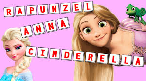 disney princess series spell out the names of all disney clip dolls with letter tiles