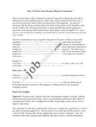 Effective Objective Statements For Resume Resume For Study