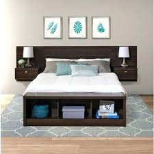 Full Image for Ikea King Size Storage Headboard King Size Floating Headboard  With Nightstands In Espresso ...