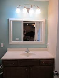 with dark gray paint color on small bathroom ideas wall