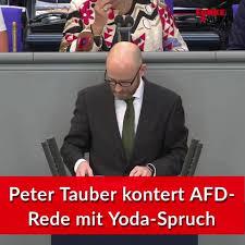 Afd Einwurf Wird Von Peter Tauber Mit Yoda Zitat Aus Star Wars