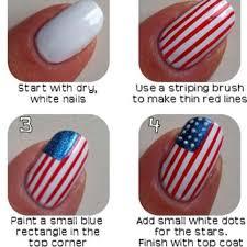 lovely american flag nail art 2018