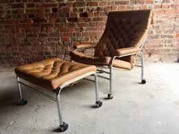 a beautiful 1970s mid century bruno mathsson inspired swedish leather on back armchair