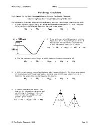 Work Energy Worksheet - resultinfos