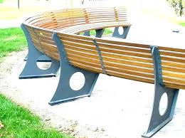 circular outdoor seating curved bench benches semi circle seat area circular outdoor seating