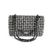 chanel vintage bag. chanel tweed double flap medium vintage bag i