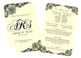 Free Printable Wedding Ceremony Programs Free Wedding Ceremony Program Template Free Wedding Ceremony Program