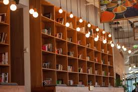 office furniture shelves. Architecture Wood Building Office Furniture Room Painting Interior Design Indoors Lights Library Books Light Bulbs Book Shelves A