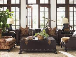 Tapestry Sofa Living Room Furniture Tommy Bahama Home Island Traditions Maarten Leather Chair In Croc
