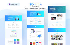 Proton Free Saas Startup Landing Page Webapp Template