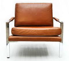 milo baughman leather and chrome chair at stdibs