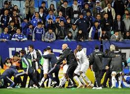 دعوای شدید در یک بازی فوتبال