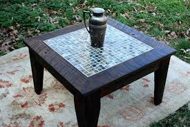 tiled coffee table retro